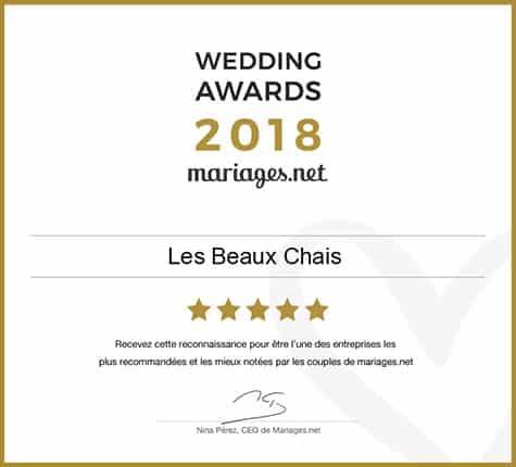 Wedding award mariages.net